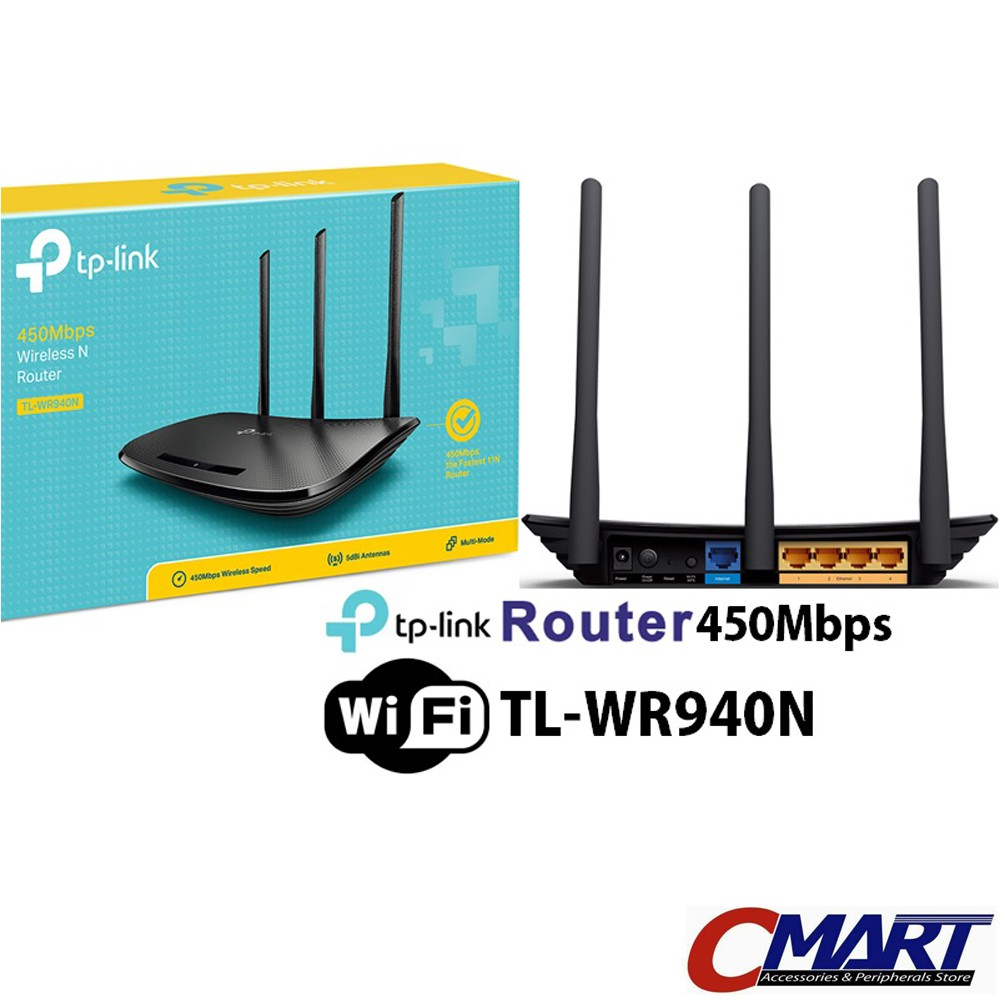Tp Link Wr940n Tl Tplink Wifi 450mbps Wireless N Router Shopee Indonesia