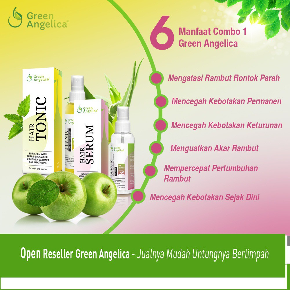 Obat Penumbuh Rambut Rontok Parah Botak Mengatasi Gratis 1 Tas Cantik Green Angelica Herbal Shopee Indonesia