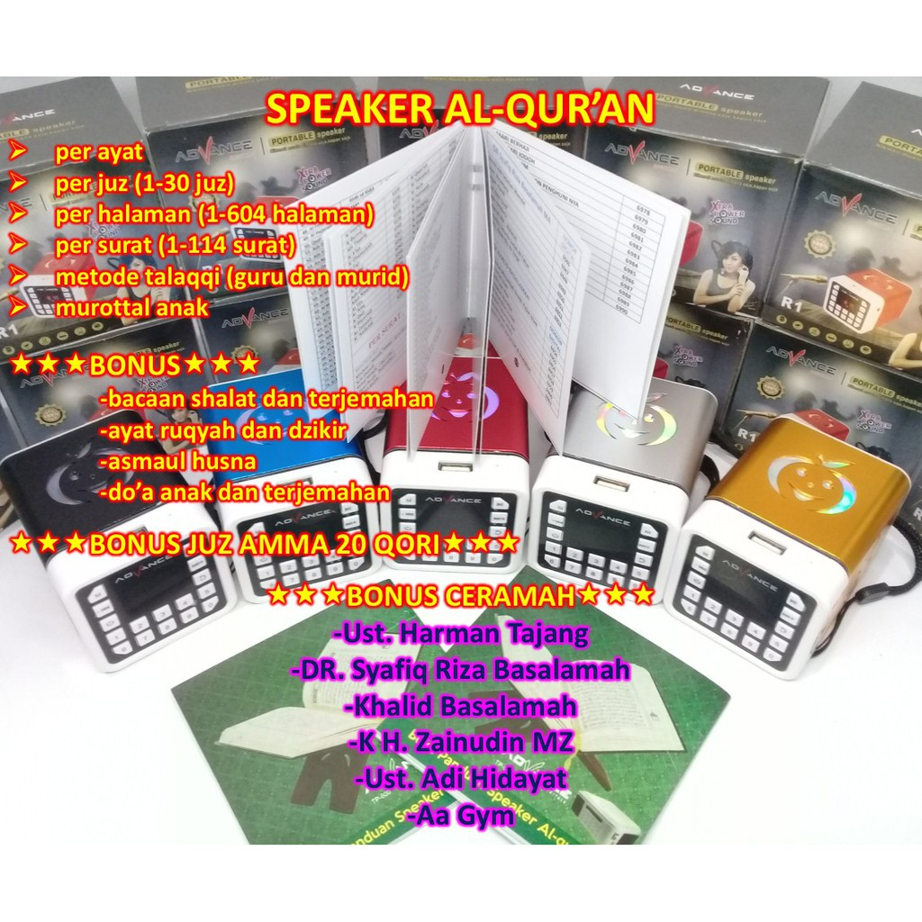 Speaker Quran 30 Juz Advance R2 Audio Murottal Alquran Stambul Qur An Mini Shopee Indonesia