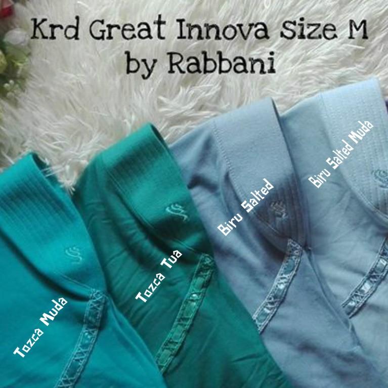Kerudung Great Innova Size S M Rabbani Warna Non Sekolah Shopee Indonesia