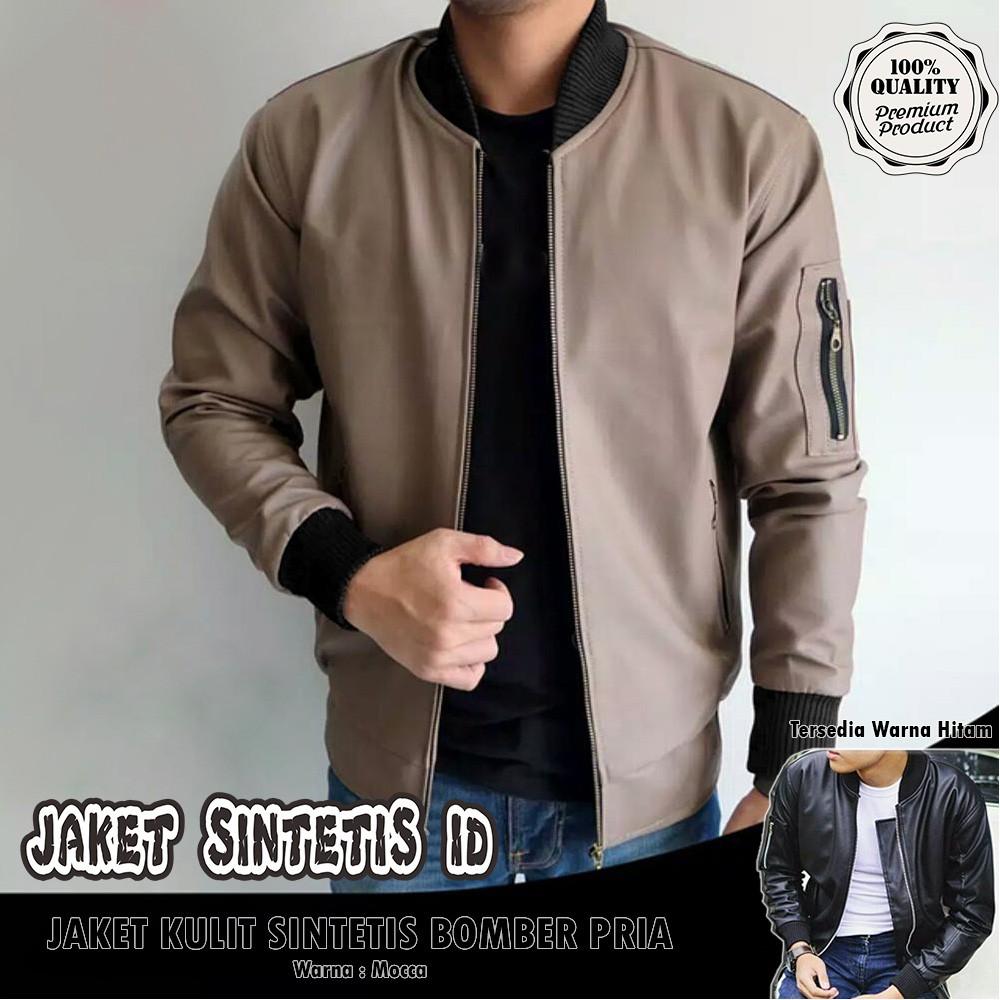 DJEBRED - Jaket kulit list hitam sk20 / jaket karlit ariel noah | Shopee Indonesia