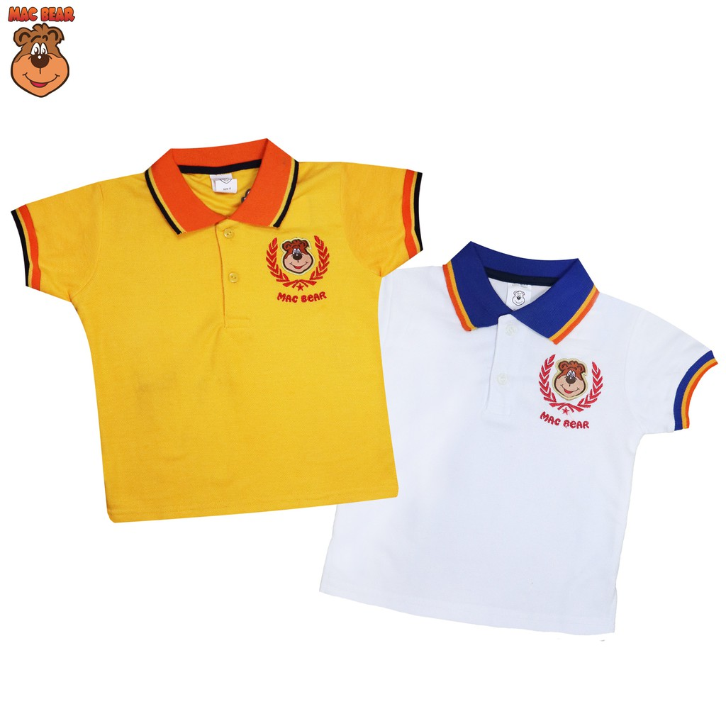 Macbear Baju Polo Anak Hello Macperry Bear White Size 5 Spec Bm4 1802 Kids Setelan T Shirt Dino Park Orange 3 Junior Atasan Flag Usa Yellow Shopee Indonesia