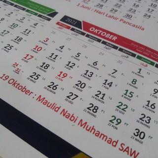 Kalender 2021 Custom lengkap tanggal masehi hijriyah jawa ...