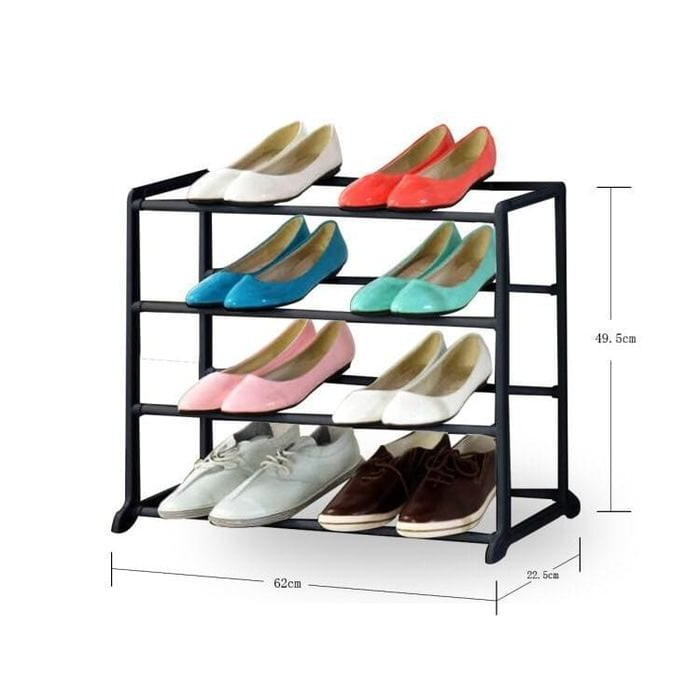 ... Beli Rak Sepatu 10 Susun Lemari Sepatu 10 susun Shoe Rack With Dust Cover rak sepatu