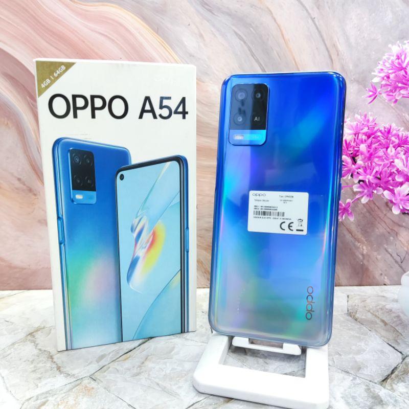 Oppo A54 Ram 6Gb Internal 128Gb HP Second Seken Bekas Oppo A 54 4/64 6/128 Fullset & Batangan Original