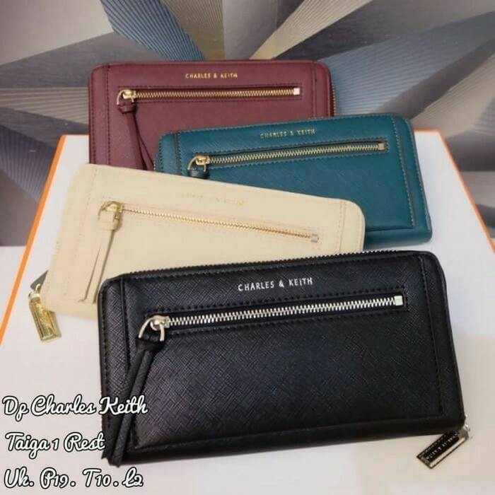 CNK Ch rles K ith Classic Long Wallet CK6-10680397 Black Red Gold Dompet  Branded Original Murah  4aca1a6ca7
