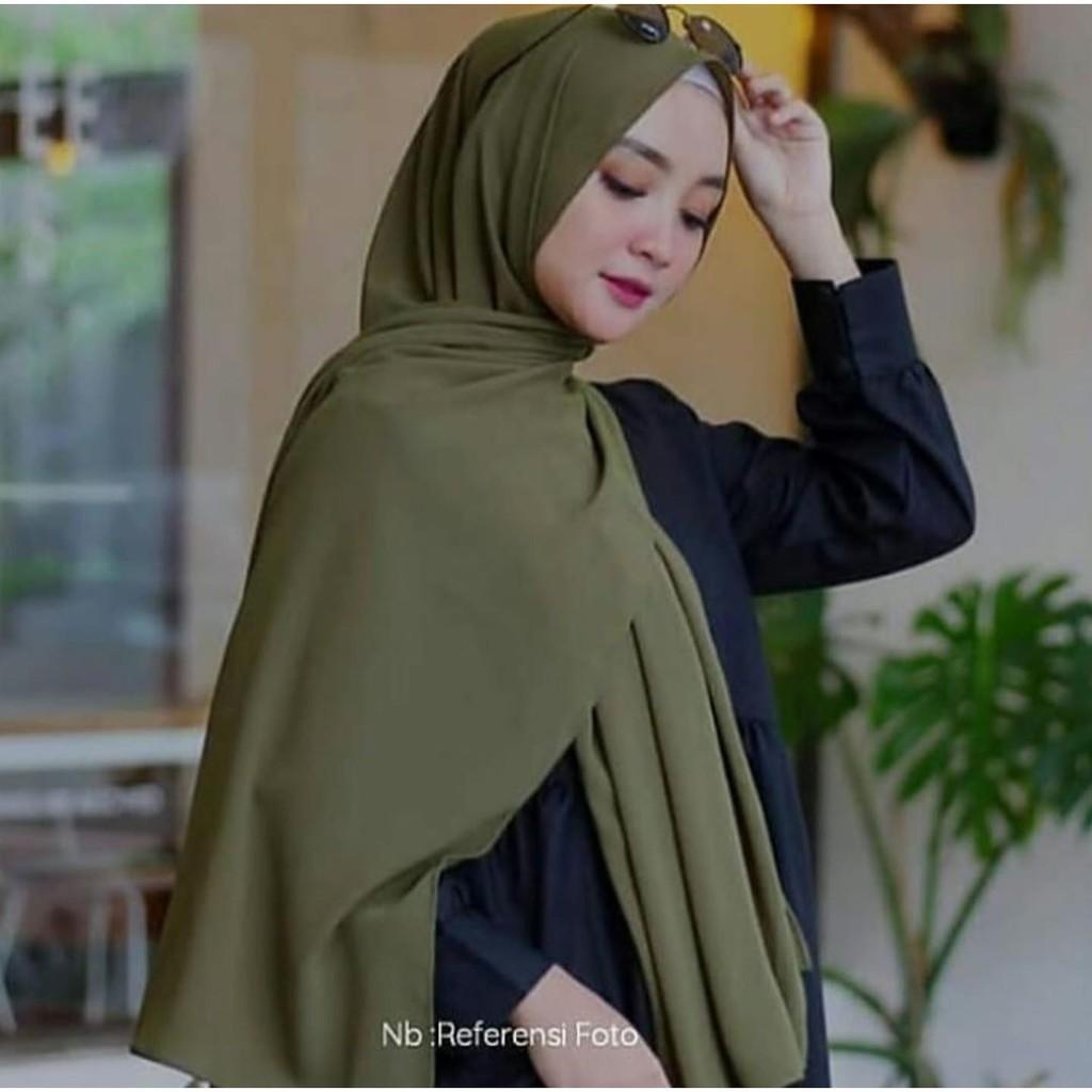 Jilbab Pashmina Sabyan Kerudung Pasmina Diamond Italiano Pinggir Neci Shopee Indonesia
