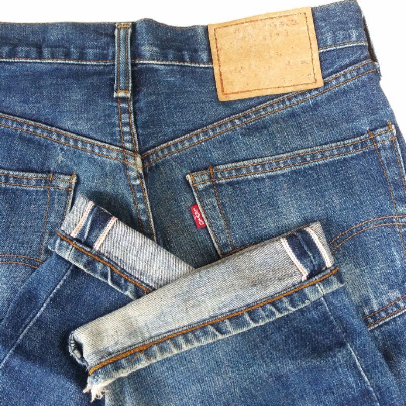Vintage Levis 502 Big E Selvedge Jeans Denim