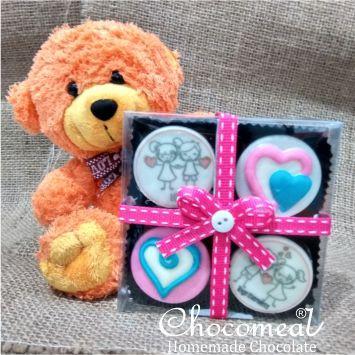 Coklat Valentine Edible Foto Bisa Request Gambar Kado Pacar Murah Shopee Indonesia