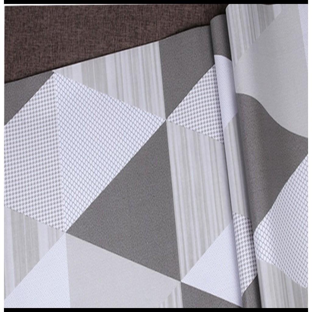 Wallpaper Stiker Dinding Motif Minimalis Segitiga Lucu