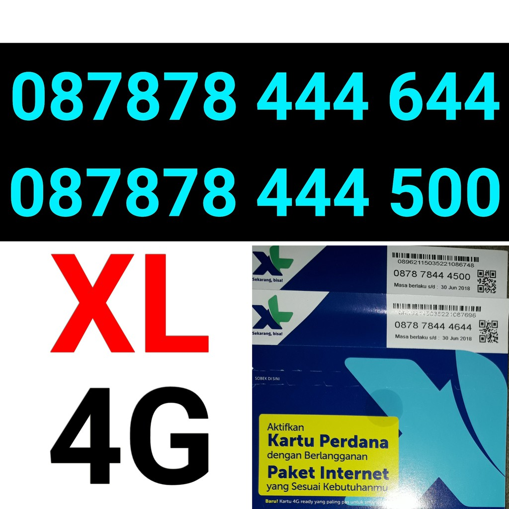 Kartu perdana XL 4G ABAB Triple ratusan nomor nomer cantik XL 4G dewa   Shopee Indonesia