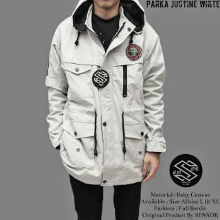 Fashion Pria Jaket DC Parasut Bolak-balik Army White dan Spesifikasi Lengkap .