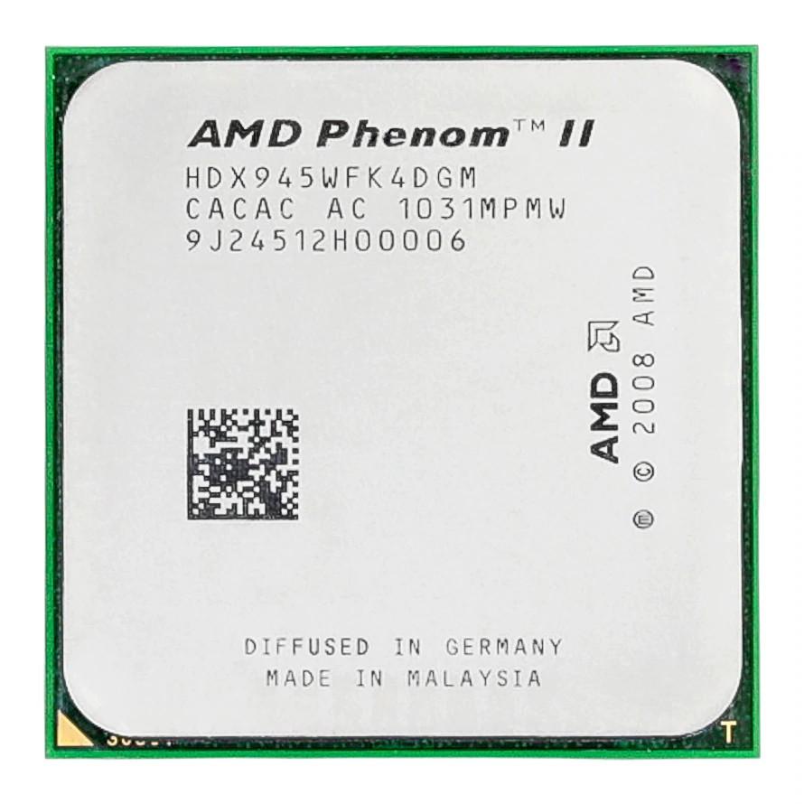 AMD Phenom II X4 945 3 GHz Quad-Core CPU Processor HDX945WFK4DGM Socket AM3