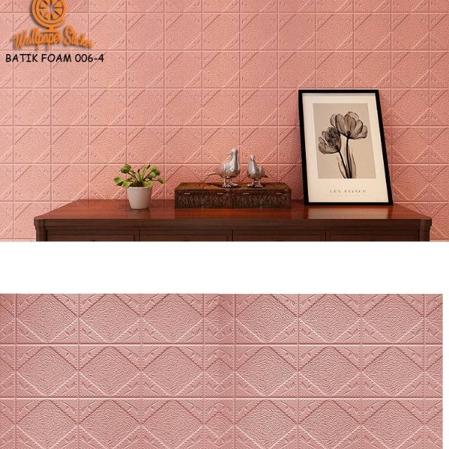 Batik Kubik Wallpaper Foam Diy