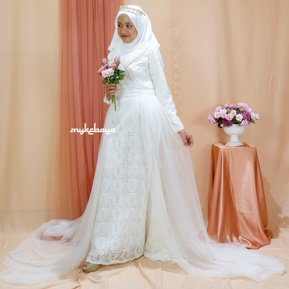 KEBAYA PENGANTIN MALAYSIA KEBAYA PENGANTIN SYARI MODERN DRESS PENGANTIN  MUSLIM
