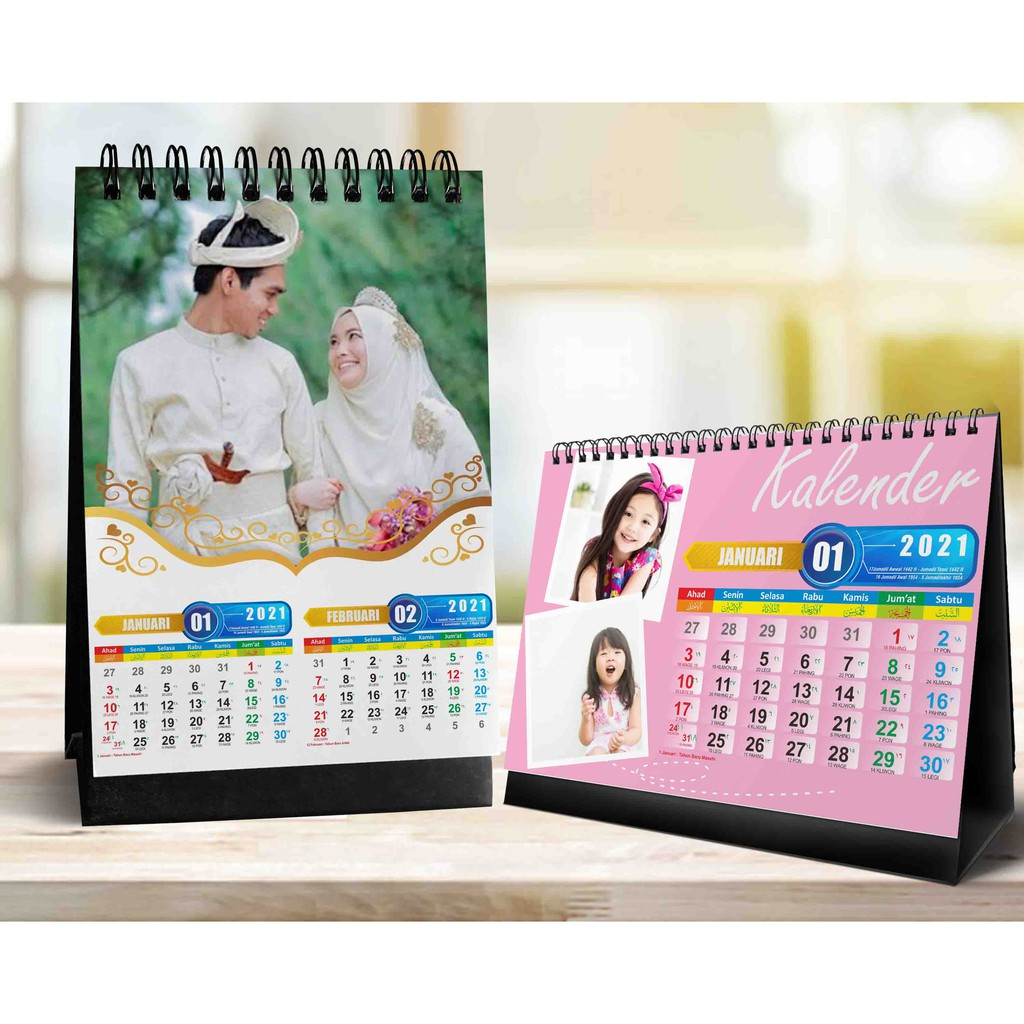 Kalender   kalender duduk   kalender meja   kalender 2021 ...