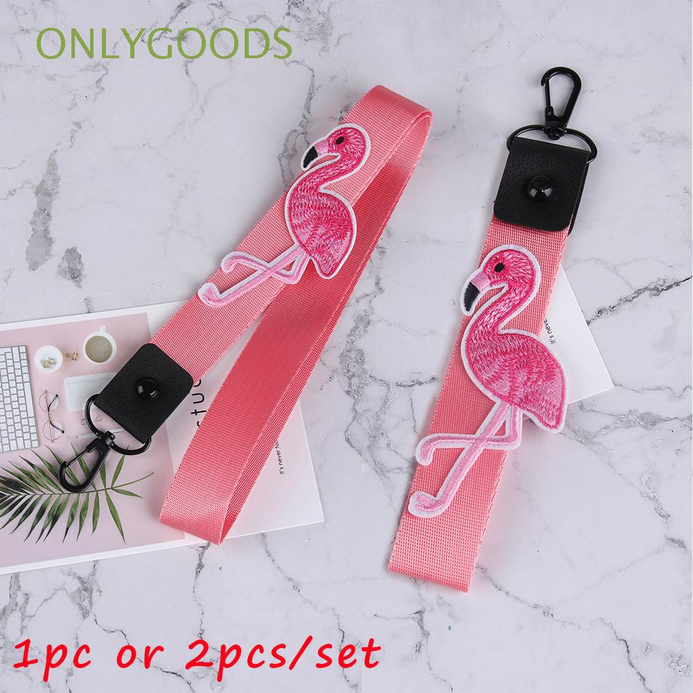 Red OFF-WHITE Trendy Mobile Phone Lanyard ID Card Holder Long+Short+Fixed Button 3PCS Rope Sets