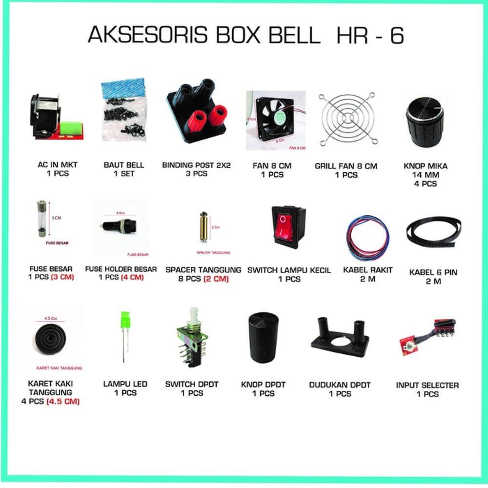 Aksesoris Box Bell Hr 6 Terbaik Shopee Indonesia Switch Dpdt 2 X 3 Dudukan Knop