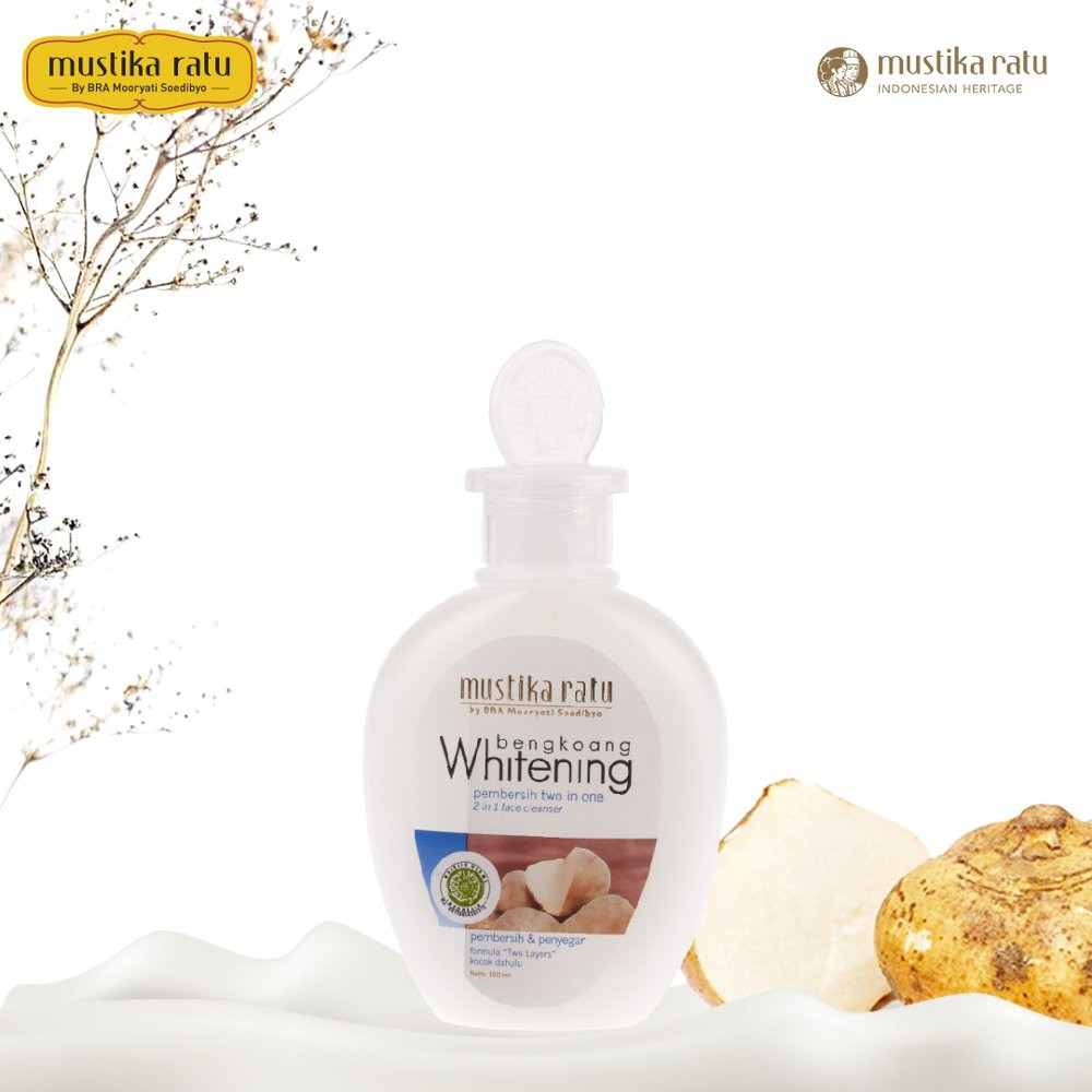 Mustika Ratu 2 in 1 Face Cleanser Whitening 150 Ml pembersih muka 2in1 bengkoang | Shopee Indonesia