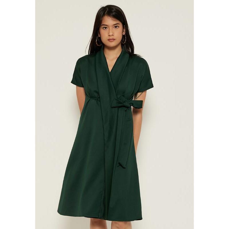 HENNIE Wrap Dress - Imlek CNY Busui Friendly Kimono Dress Sincia
