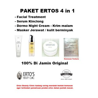 Sale Ertos Paket Glowing Wajah 4 in 1 - 100% Original discount - only 155.710Rp
