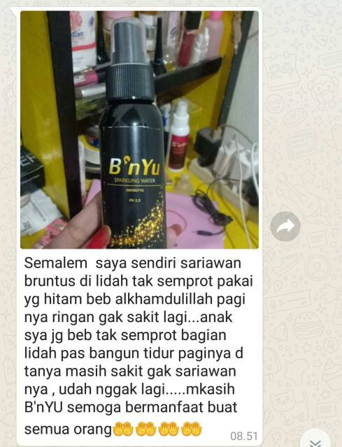 Promo B Nyu Hitam Antiseptik Sparkling Water Isi 100ml Shopee Indonesia