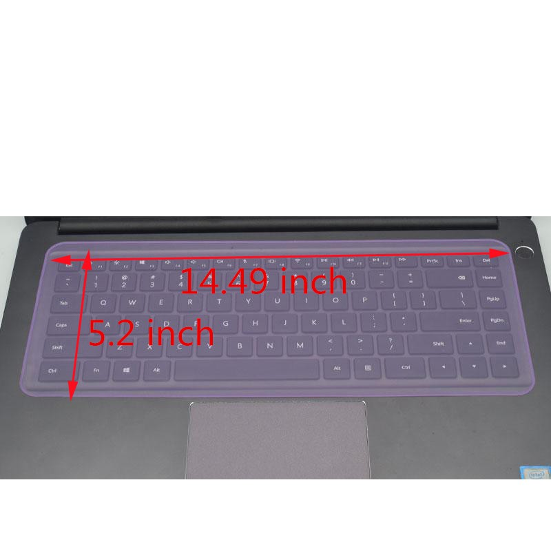 10.0/12.0/14.0/15.0 inch Universal Silicone Keyboard Protector cover for laptop-15-17 inch Purple