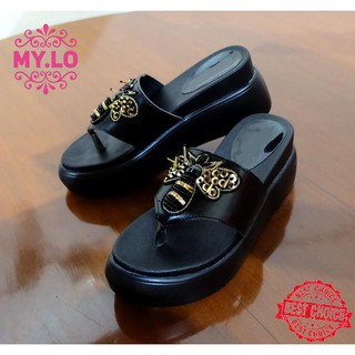435157ae1bdd SANDAL WEDGES FLAT JEPIT CASUAL CEWE IMPORT MYLO MS1206 HIGH QLTY barang  bagus
