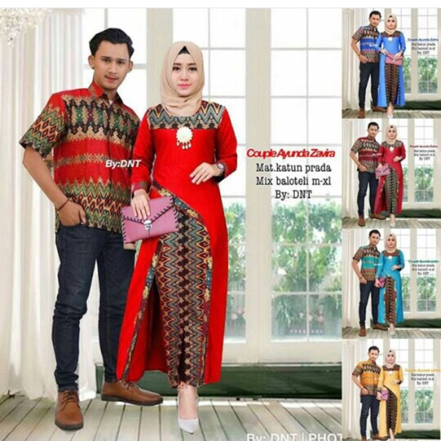 PROMO HARGA TERMURAH Batik Couple Modern Sarimbit Baju Psangan Party Dress Ayunda  Etnic  e340813f54