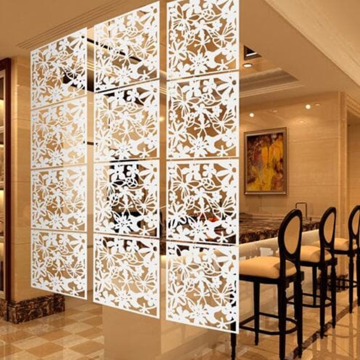 Isi 4pcs 1 Warna 430gr Dekorasi Penyekat Ruang Sekat Ruangan Tamu Minimalis Bahan Plastik Pvc Shopee Indonesia