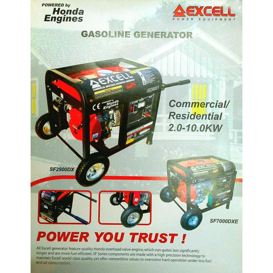 GENSET HONDA EXCELL SF 7000DXE 5000watt (HARGA UNIT)