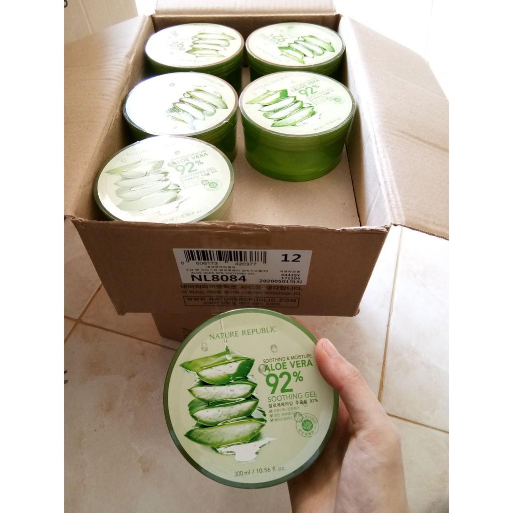 100 Original Jaminan Uang Kembali Nature Republic Soothing Ada Embos Aloe Vera Gel 300 Ml Moisture 92 Shopee Indonesia