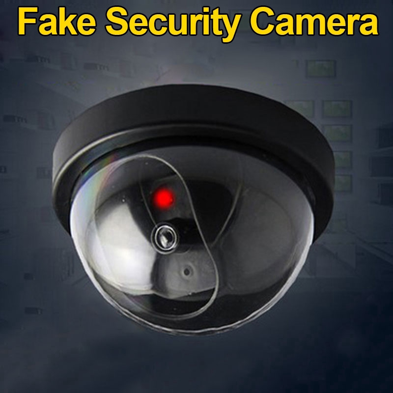 Indoor Dummy Dome Surveillance Security Camera CCTV Flashing Red LED Light New