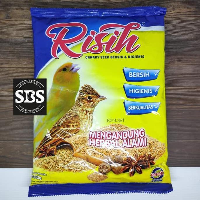 Risih Makanan Kenari Seed Bersih Utk Kenari Dan Branjangan Merk Ebod Shopee Indonesia