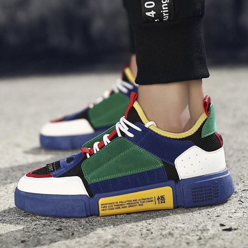 Sepatu Sneakers Wanita Warna Putih Gaya Harajuku  6adaaa1c94