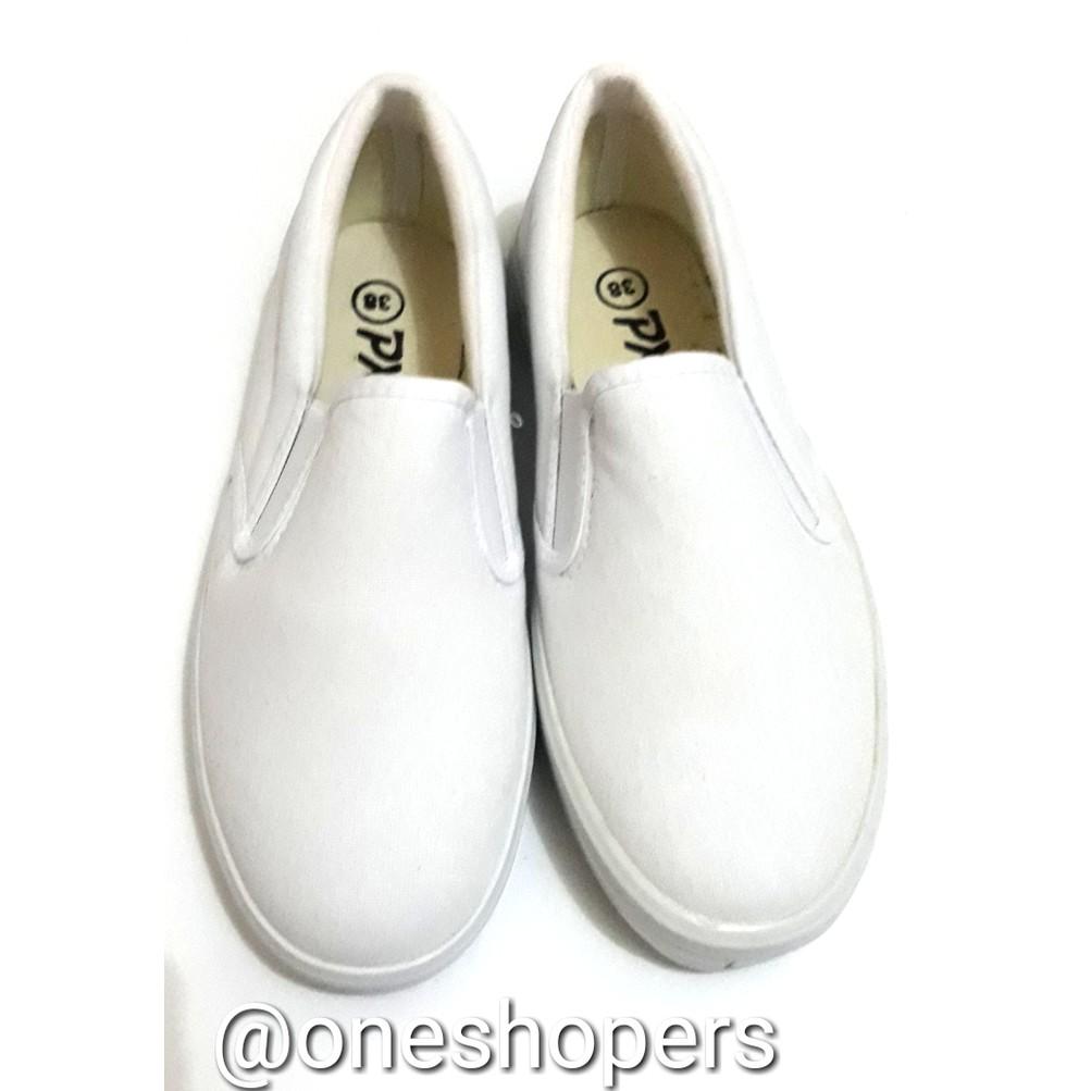Promo Belanja Sepatukanvaspolos Online Oktober 2018 Shopee Indonesia Flat Shoes Wanita Kerja Kanvas Lukis  Slipon Px Style Suster