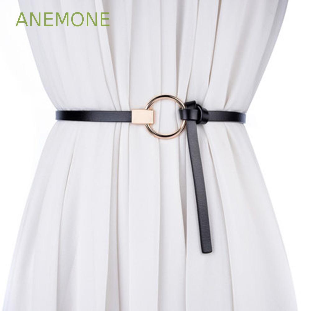 ANEMONE Skirt Accessories Colorful Thin Narrow Waistband Lady Girl Waist Belt