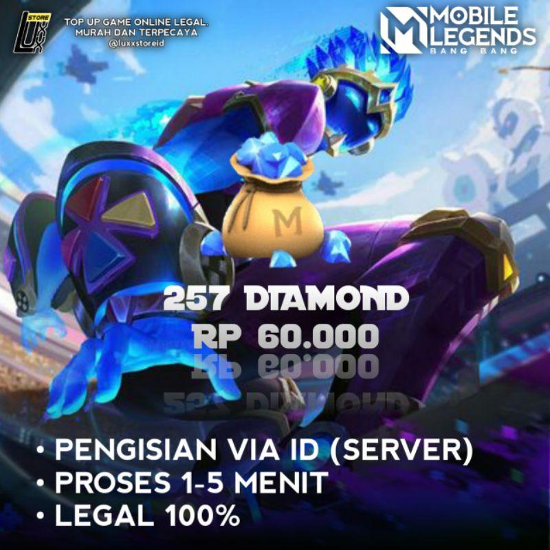 Mobile Legends Diamond Paket Fast 257DM
