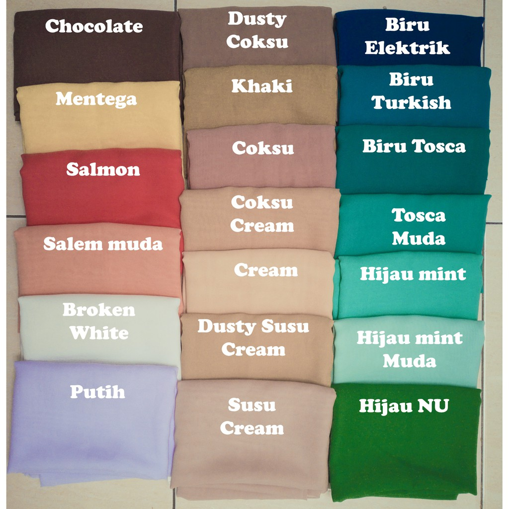 Warna Jilbab Coklat Pastel / Shade merah muda yang satu