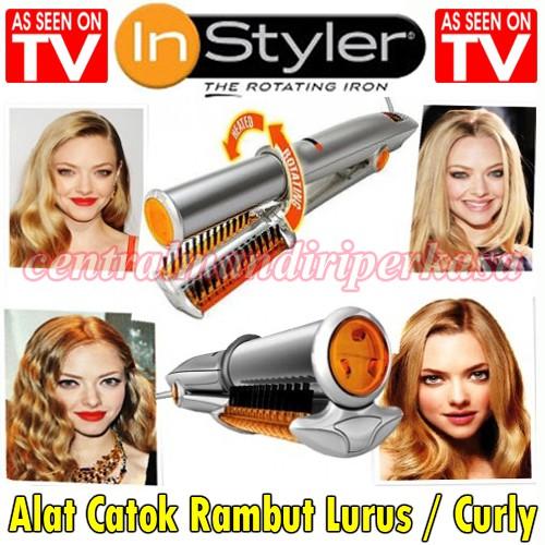 catok pengriting pelurus rambut instyler tulip auto rotate murah Catok otomatis instyler auto curler   Shopee Indonesia