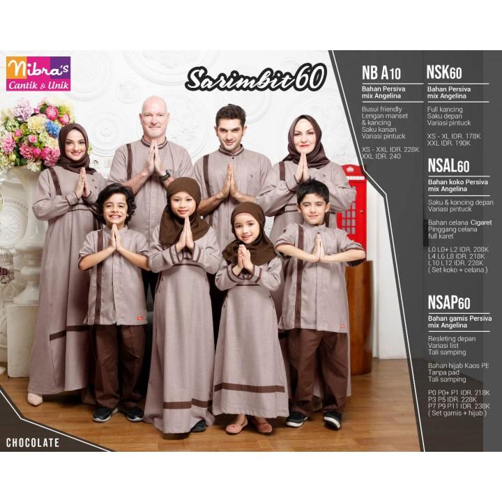 Couple F02 Keluarga muslim sarimbit seragam ayah ibu anak koko gamis. | Shopee Indonesia