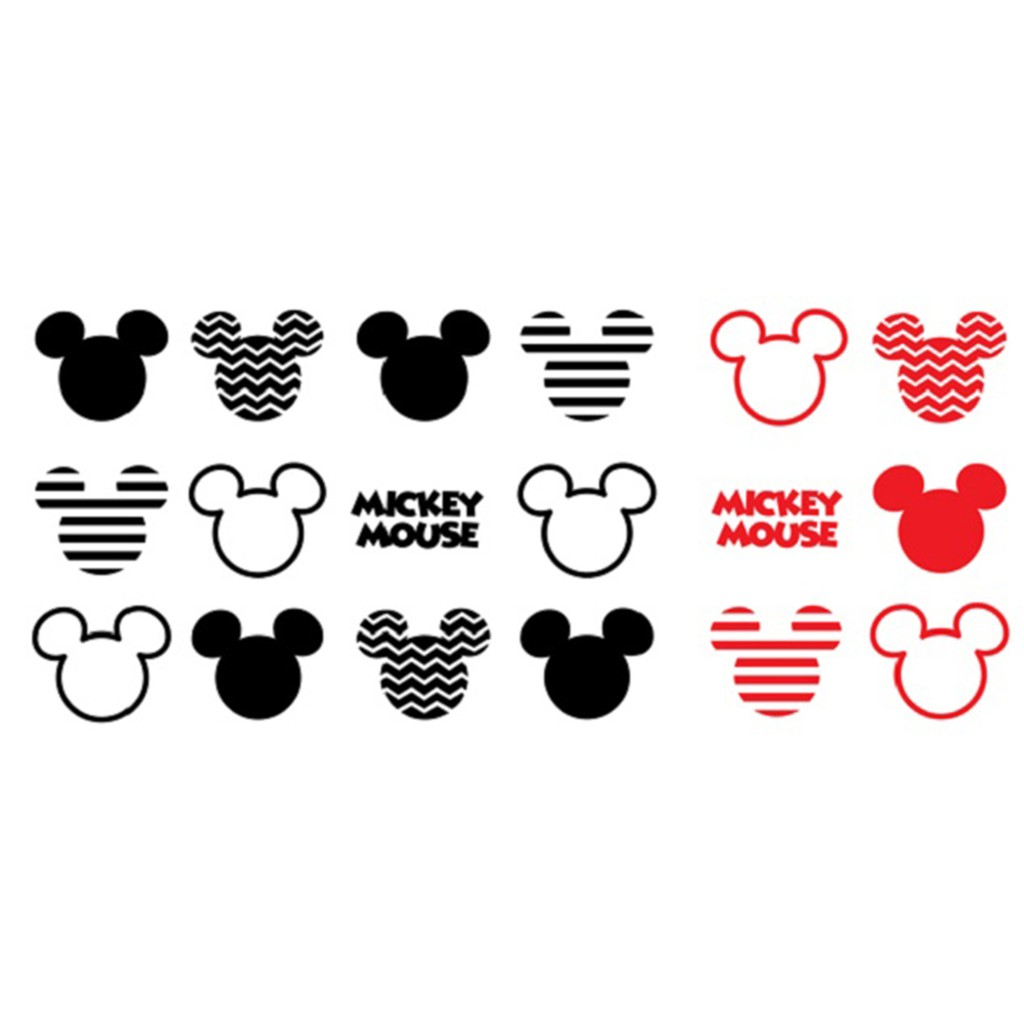 Hyundae Fixpix Graphic Sticker Dinding Dgc 54013 Icon Mickey Mouse Black Red Shopee Indonesia