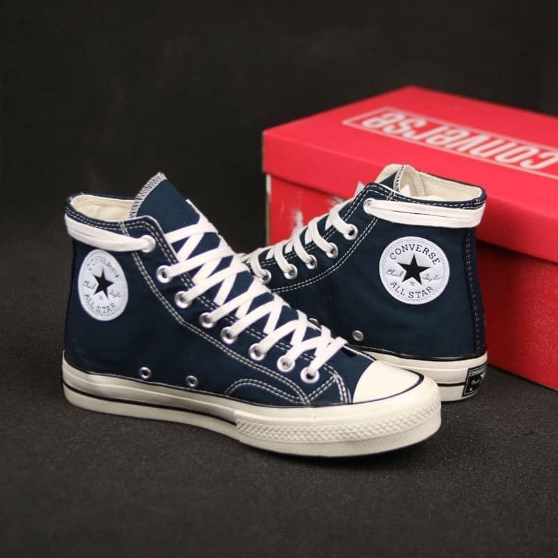 Sepatu Converse 70s Dress Blue Hi Import Premium Bnib Made In
