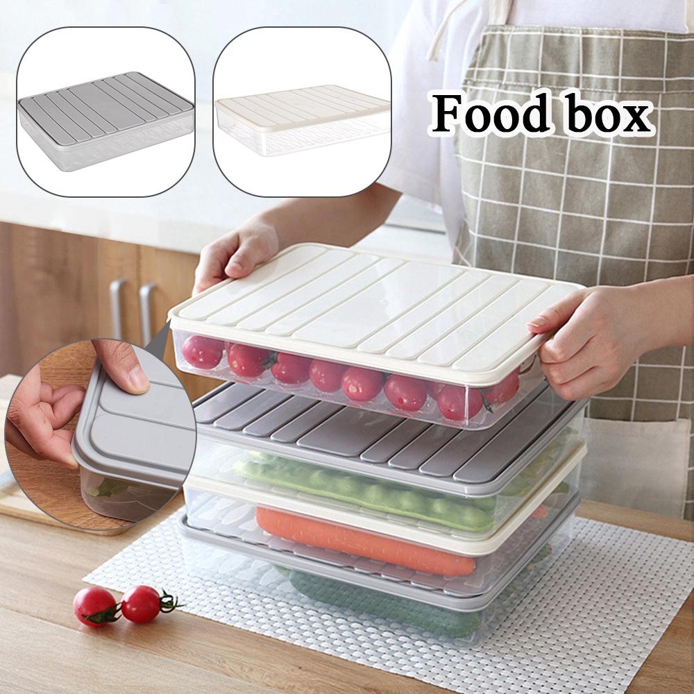 Food Storage Container Plastic Fruit Food Seal Freezing Storage Box Kitchen Refrigerator Egg Fish Fridge Organizer Shopee Indonesia