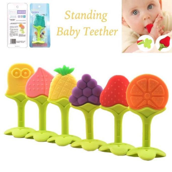 IQ baby Teether Fruit strawberry and Grape/Gigitan bayi buah anggur dan apel | Shopee Indonesia