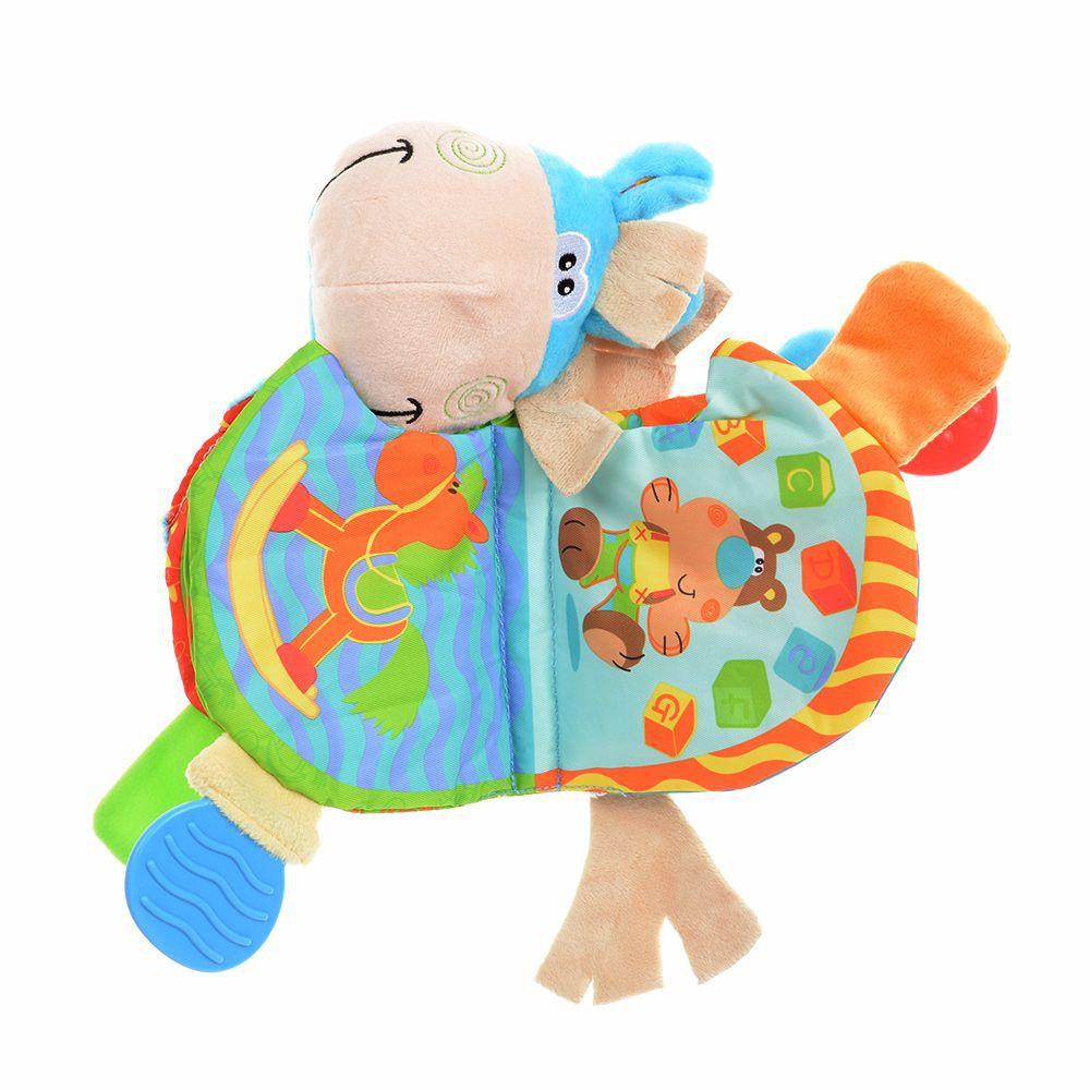 Mainan Buku Kain Gambar Binatang Keledai Untuk Edukasi Anak