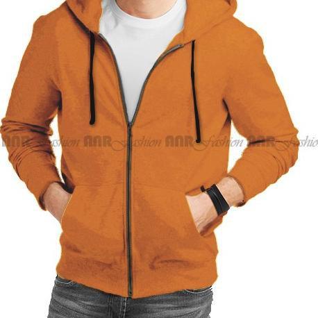 DiskonBesar〴 Jaket Sweater Zipper Polos Hitam Misty Navy Maroon Hijau Botol Mustard ∞