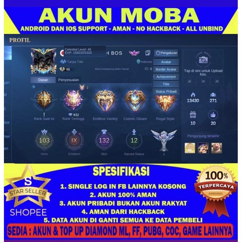 Akun Mobile Legends.Skin Legend Recall Tastas