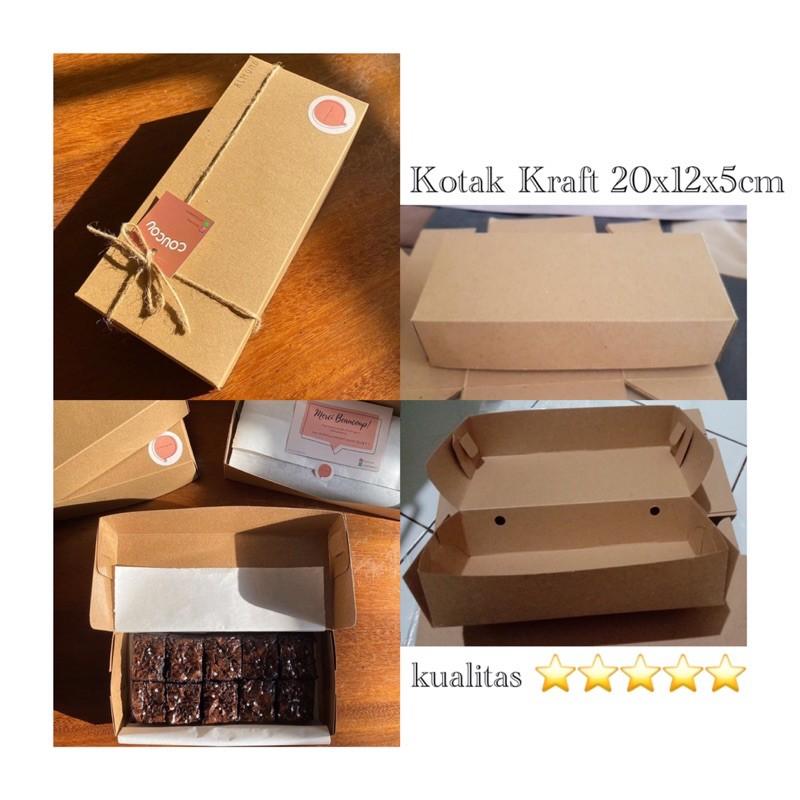 Kotak kraft 20x12x5cm Kotak Brownies / Cake / Donat dan ...