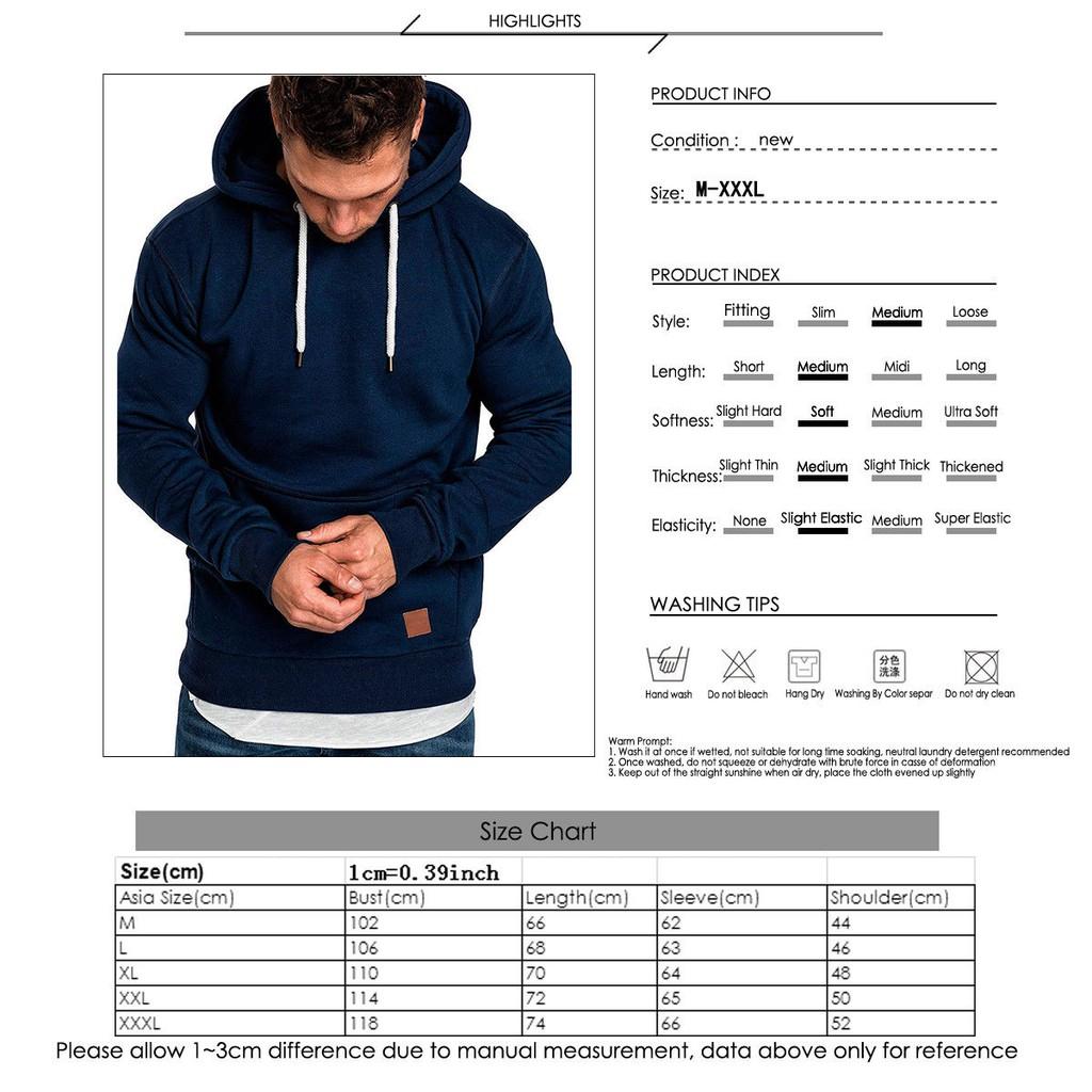 Men/'s Winter Outwear Sweater Slim Fit Hoodies Warm Hooded Sweatshirt Coat Jacket